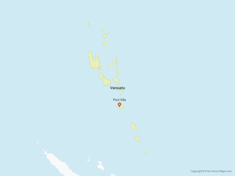 Free Vector Map of Vanuatu