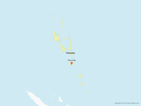 Free Vector Map of Vanuatu with Provinces