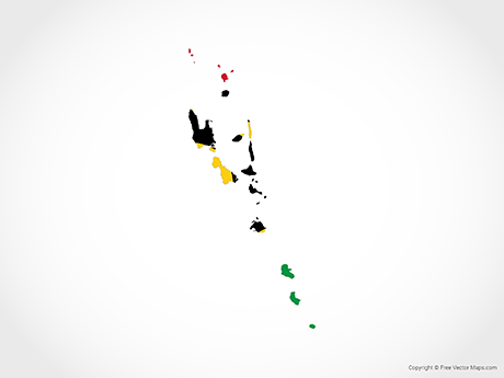 Free Vector Map of Vanuatu - Flag
