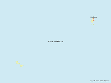 Free Vector Map of Wallis and Futuna