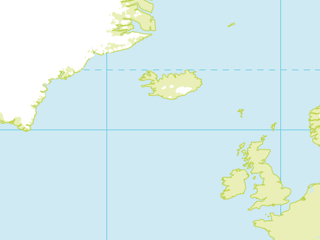 Vector Map of World with Glaciated Areas