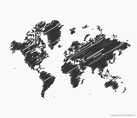 Map of World - Sketch