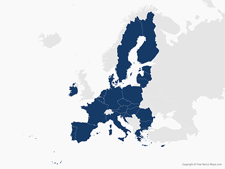 Vector Map of European Union with Member States | Free Vector Maps