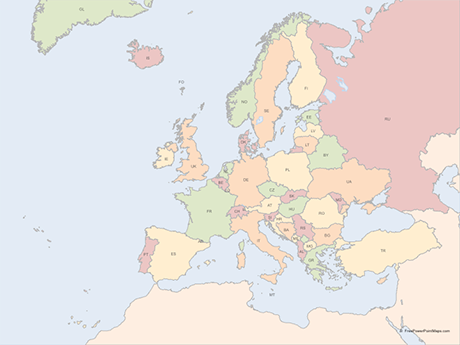 Vector Map of Europe with Countries