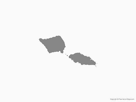 Free Vector Map of Samoa - Single Color
