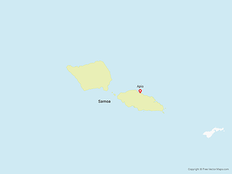 Free Vector Map of Samoa