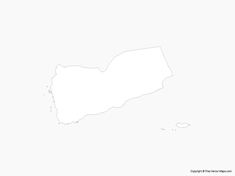 Free Vector Map of Yemen - Outline