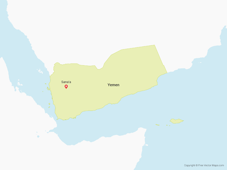Free Vector Map of Yemen
