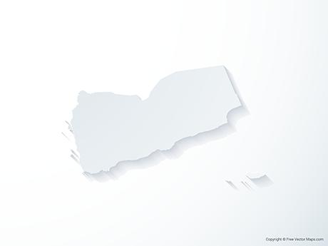 Free Vector Map of Yemen - 3D