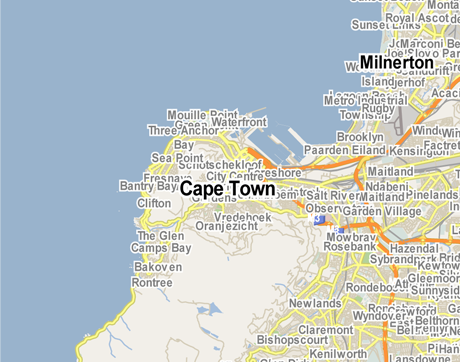 Vector Map of Cape Town