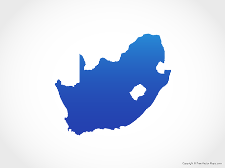 Free Vector Map of South Africa - Blue