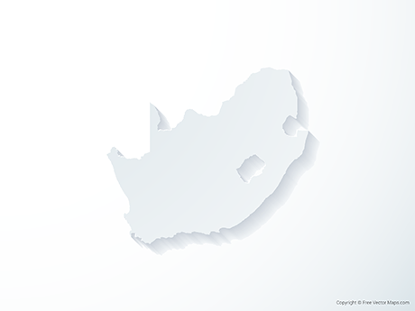 Free Vector Map of South Africa - 3D