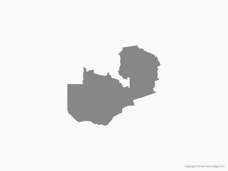 Map of Zambia - Single Coor