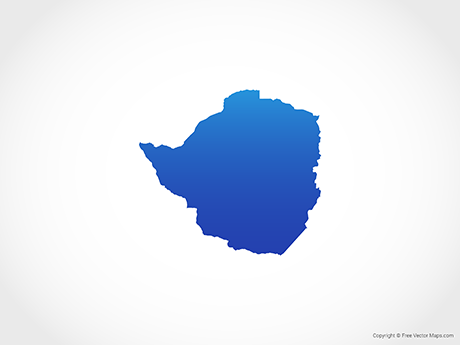 Free Vector Map of Zimbabwe - Blue