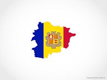 Map of Andorra - Flag