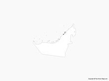 Map of United Arab Emirates - Outline