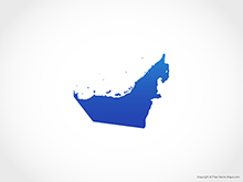 Map of United Arab Emirates - Blue
