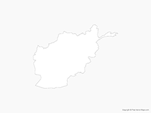 Map of Afghanistan - Outline