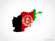 Map of Afghanistan - Flag