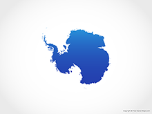 Map of Antarctica - Blue