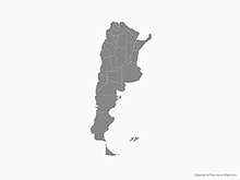 Map of Argentina with Provinces - Single Color