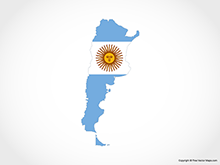 Map of Argentina - Flag