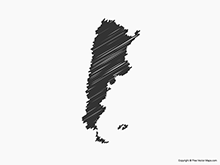 Map of Argentina - Sketch