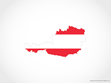 Map of Austria - Flag