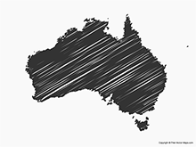 Map of Australia - Sketch
