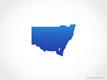 Map of New South Wales - Blue