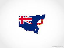 Map of New South Wales - Flag