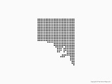 Map of South Australia - Dots