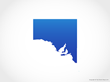 Map of South Australia - Blue