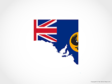 Map of South Australia - Flag