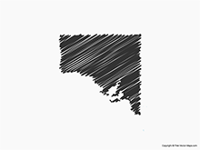 Map of South Australia - Sketch