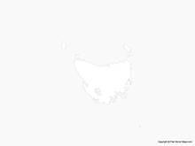 Map of Tasmania - Outline