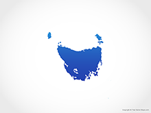 Map of Tasmania - Blue