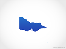 Map of Victoria - Blue