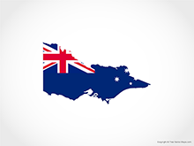 Map of Victoria - Flag