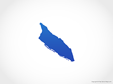 Map of Aruba - Blue