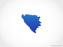 Map of Bosnia and Herzegovina - Blue