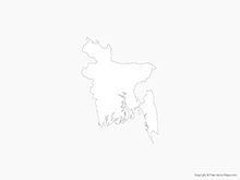 Map of Bangladesh - Outline