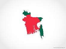 Map of Bangladesh - Flag