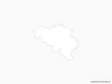 Map of Belgium - Outline