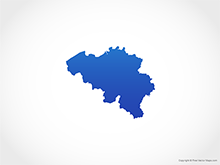 Map of Belgium - Blue