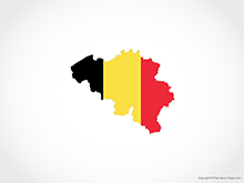 Map of Belgium - Flag