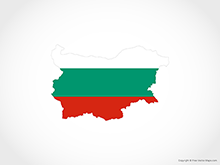Map of Bulgaria - Flag