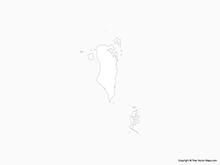 Map of Bahrain - Outline
