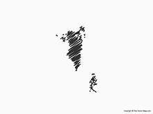 Map of Bahrain - Sketch