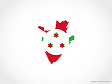 Map of Burundi - Flag